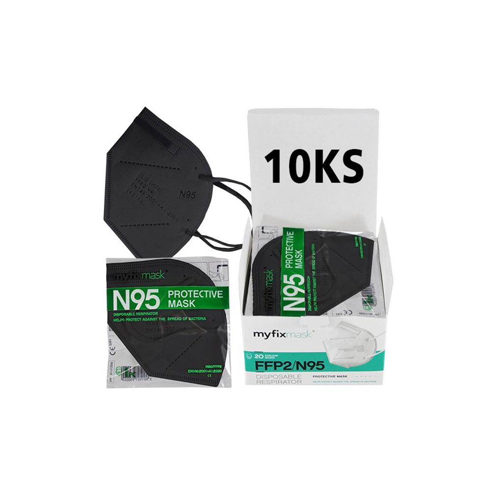 Čierny respirátor FFP2 (10ks)