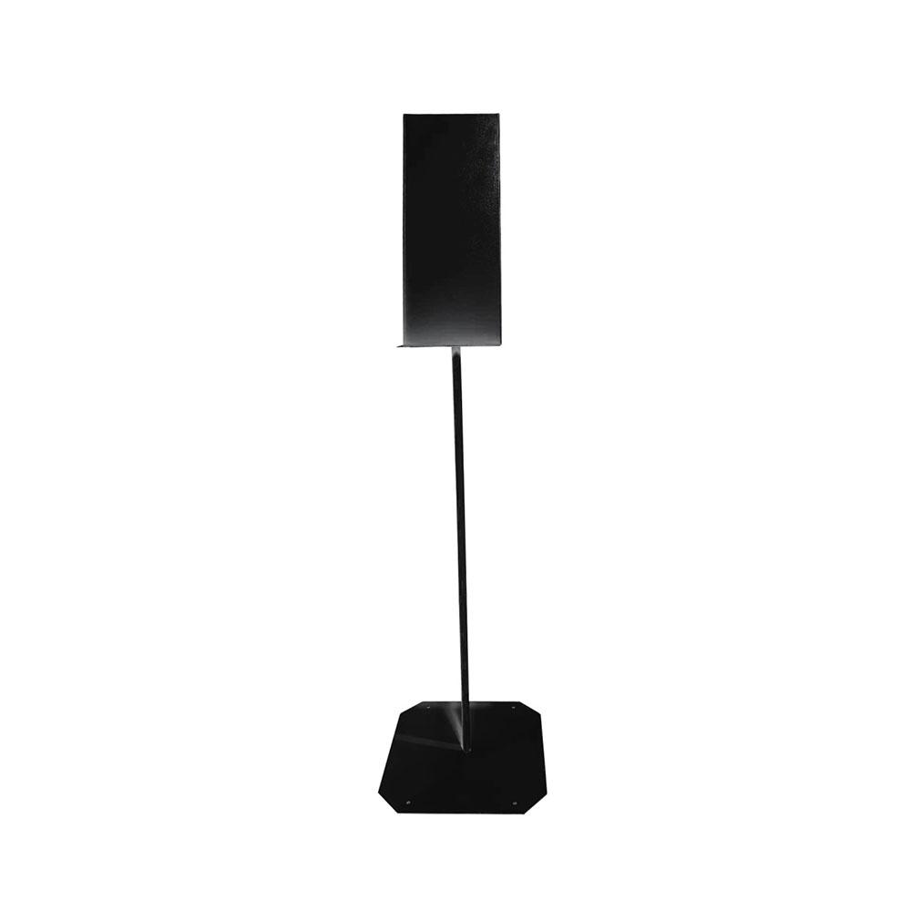 Čierny stojan na bezkontaktný dávkovač