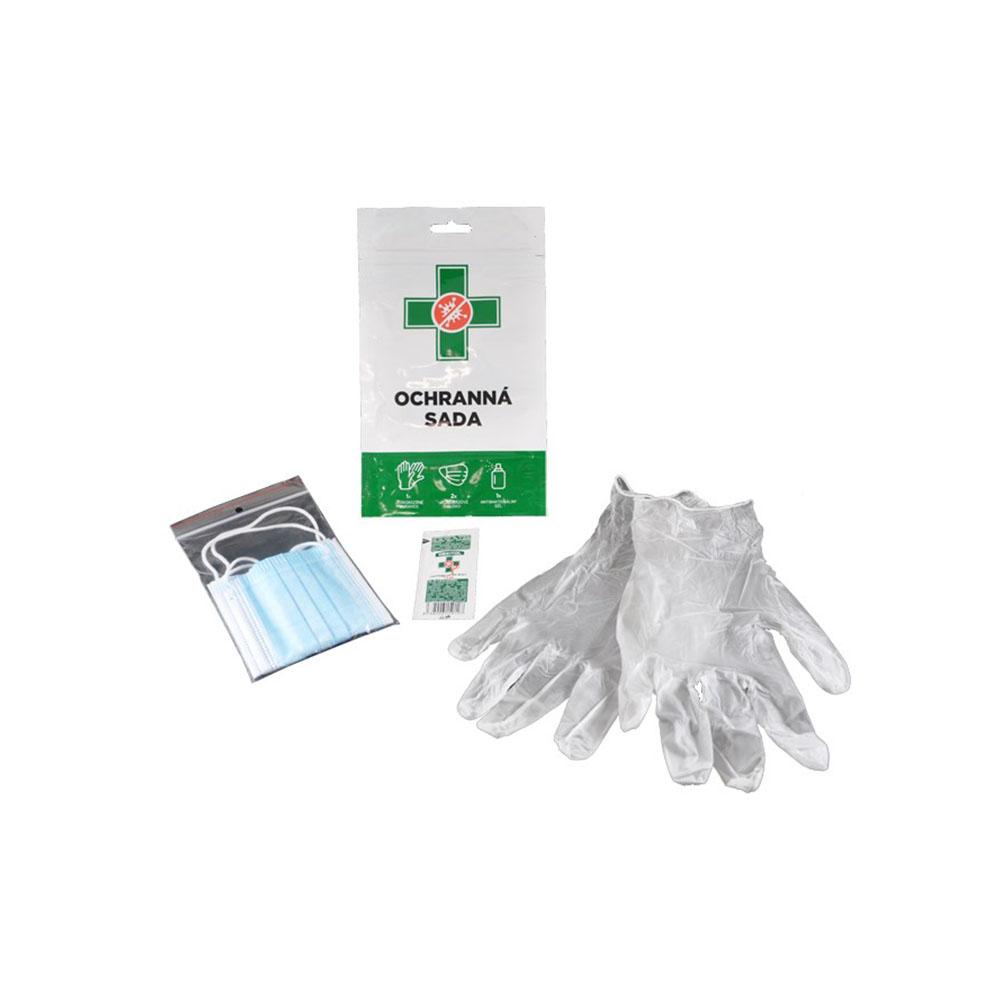 Ochranná sada - dezinfekcia, rukavice a rúško