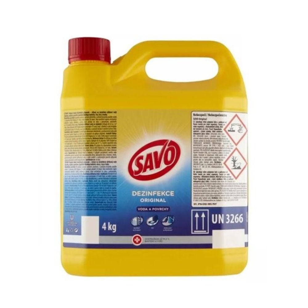 Tekutý dezinfekčný prípravok Savo Original 4 kg
