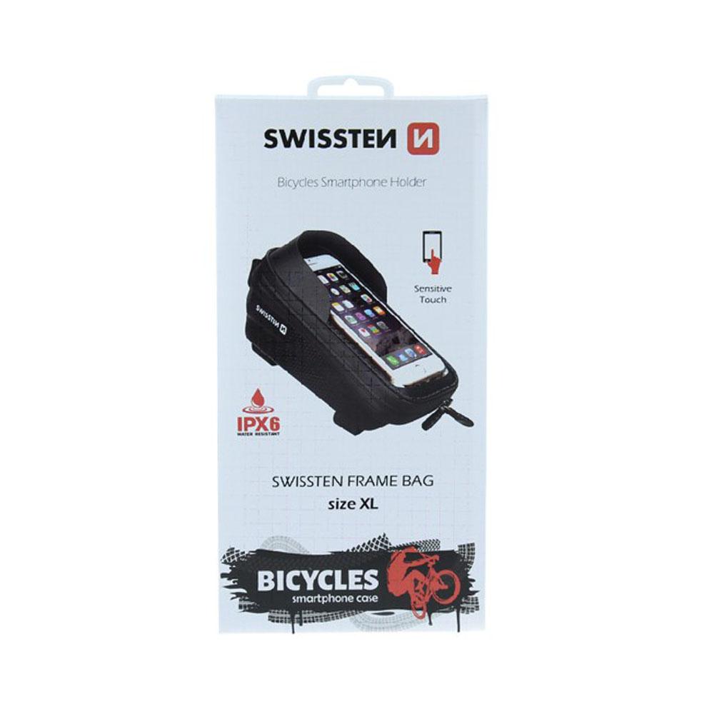 Vodotesné puzdro na bicykel s krycím šiltom, Swissten