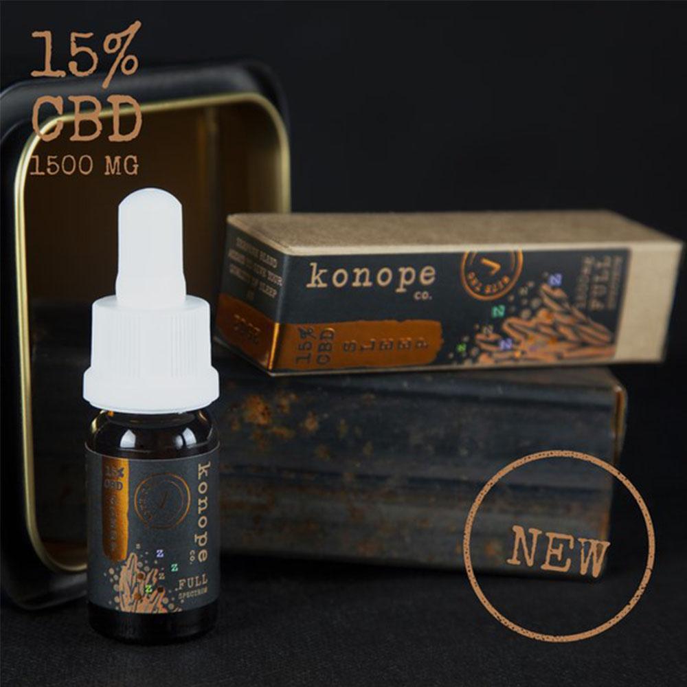 15% CBD SLEEP organický MCT olej - plné spektrum, 10ml