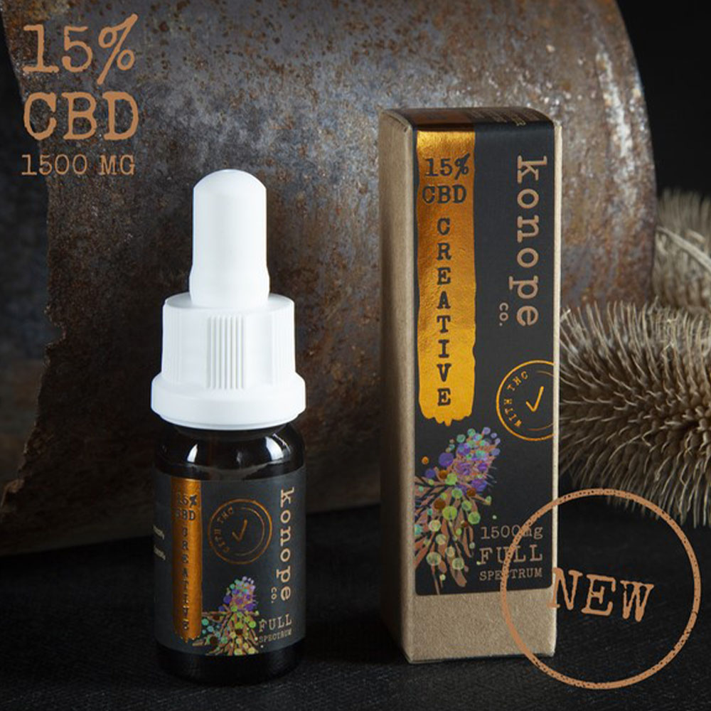 15% CBD CREATIVE organický MCT olej - plné spektrum, 10ml
